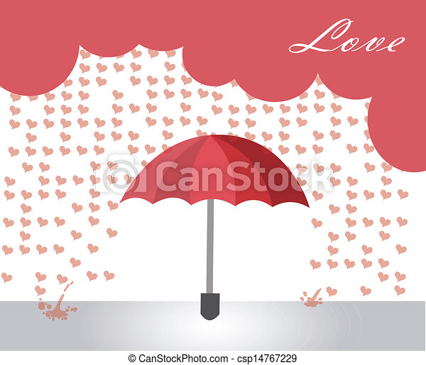 hearts rain  - csp14767229