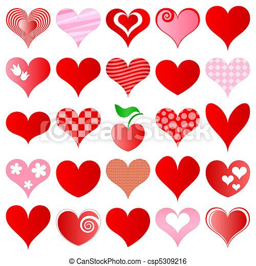 hearts set - csp5309216