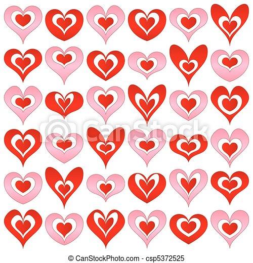 hearts set - csp5372525