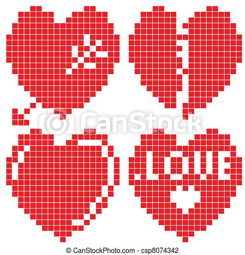 Hearts set - csp8074342