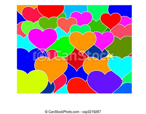 Hearts texture - csp3219287