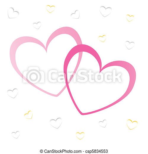 hearts valentine's icons, wallpaper - csp5834553
