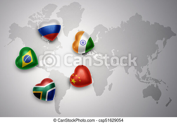 Hearts with flags of the five countries of the brics russia brazil south africa on stock illustration hearts with flags of the five countries of the brics russia brazil india gumiabroncs Gallery