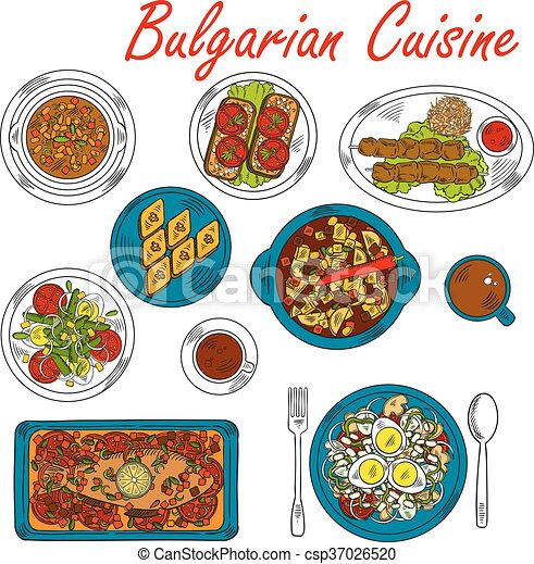 Hearty Dishes Of Bulgaria With Meat And Vegetables National