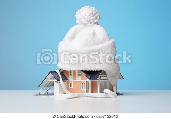 Heat insulation of house - csp7122612