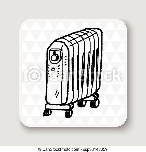 heater doodle - csp33143059