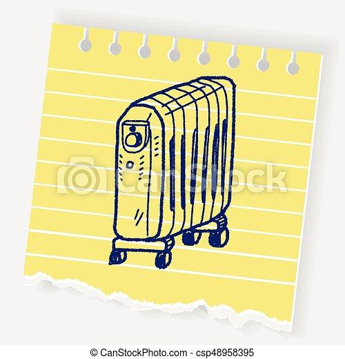 heater doodle - csp48958395