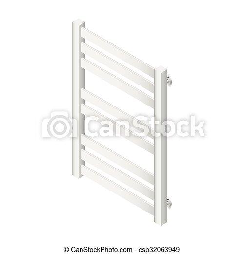 Heater towel rail isometric icon - csp32063949