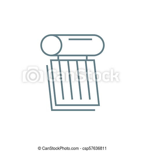Heating Element Linear Icon Concept Heating Element Line Vector