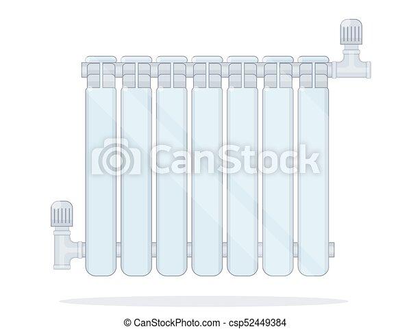 Heating radiator. illustration for online store of plumbing. vector ...