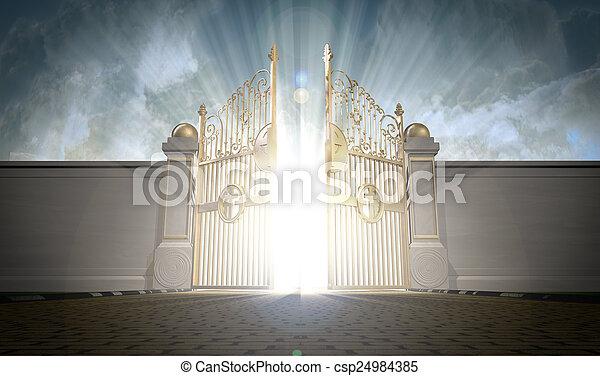 Heavens Gates Opening - csp24984385