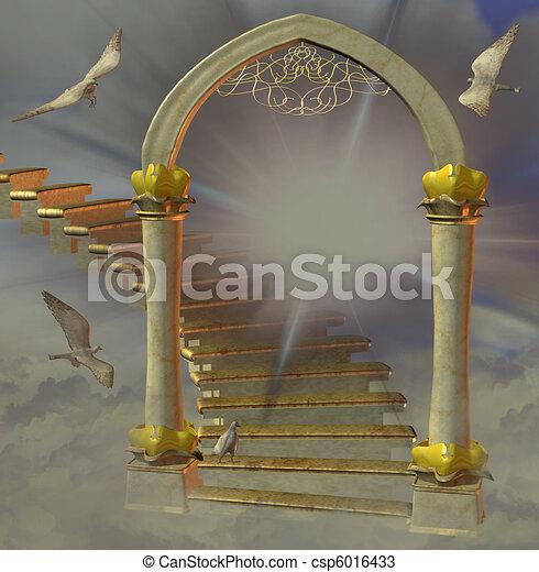 heaven\'s, portão - csp6016433