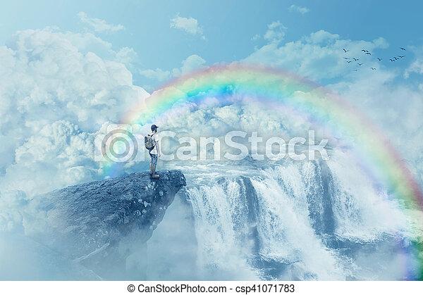 heaven's waterfall - csp41071783