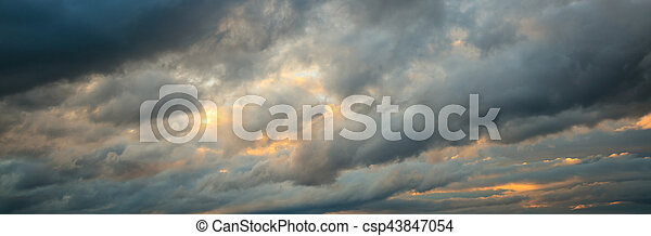 Heavy clouds over mountains - csp43847054