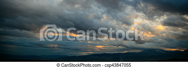 Heavy clouds over mountains - csp43847055