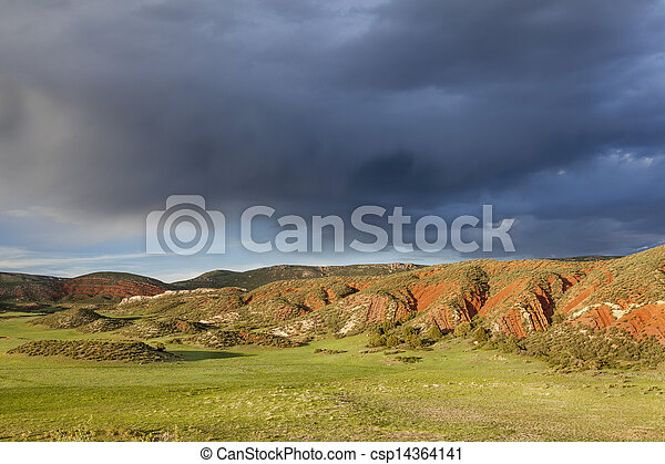 heavy clouds over Red Mountain - csp14364141