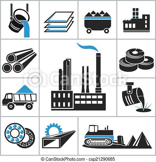 Heavy industry icons - csp21290685