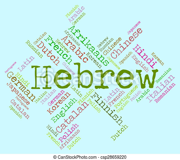 Hebrew Language Indicates Wordcloud Word And Speech