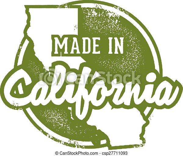 Hecho en California USA - csp27711093