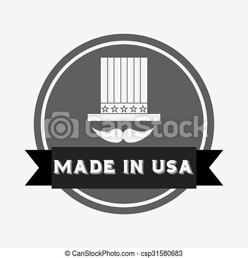 Hecho en diseño de EE.UU - csp31580683