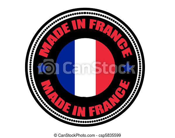 Hecho en la etiqueta de Francia - csp5835599