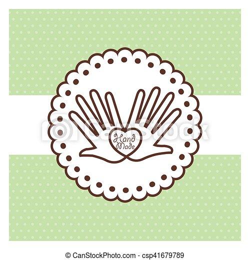 Etiqueta hecha a mano, taller de artesanías - csp41679789