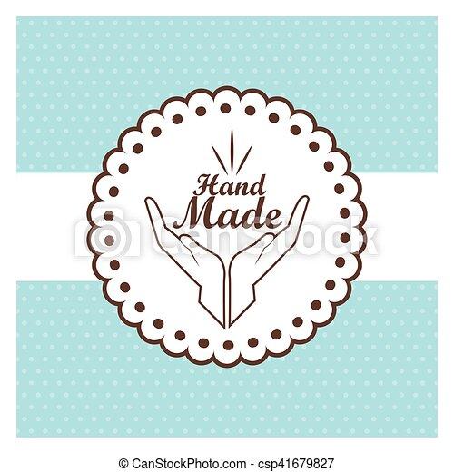 Etiqueta hecha a mano, taller de artesanías - csp41679827