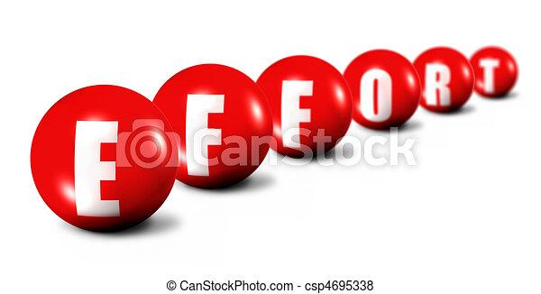 Palabras efectivas hechas de esferas 3D en blanco - csp4695338