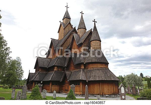 Heddal stavkirke in Norway - csp16040857