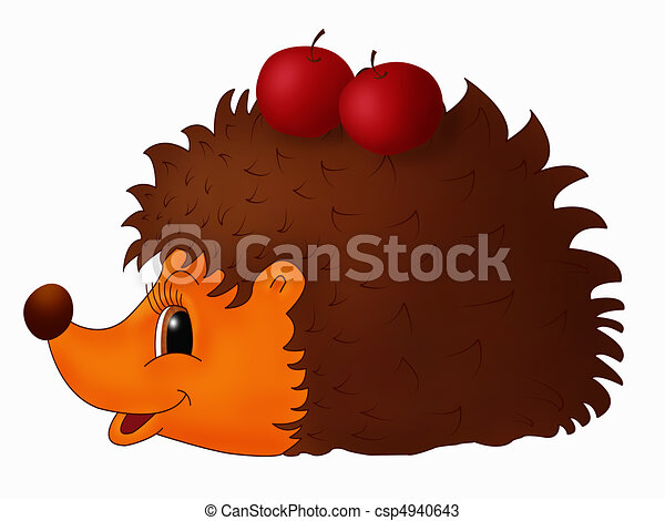 childish illustration of hedgehog drawings search clipart rh canstockphoto com hedgehog clipart pictures hedgehog clipart cute