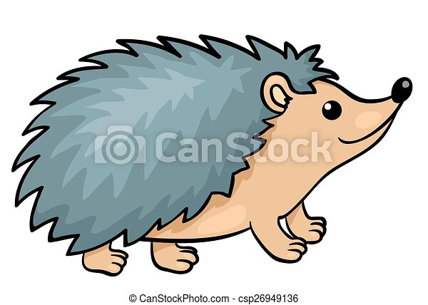 hedgehog isolated on white vector cartoon illustration rh canstockphoto com hedgehog clipart cute hedgehog clipart black and white