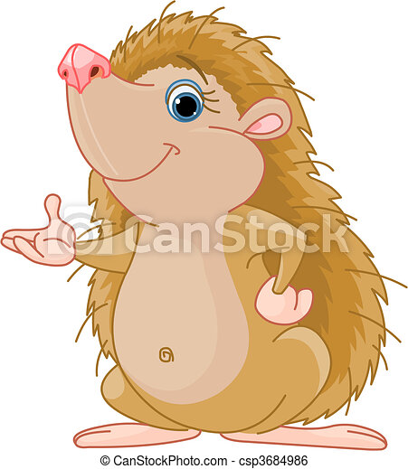 Hedgehog presenting - csp3684986