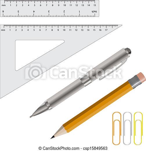 heersers, pen, vector, potlood, illustratie - csp15849563