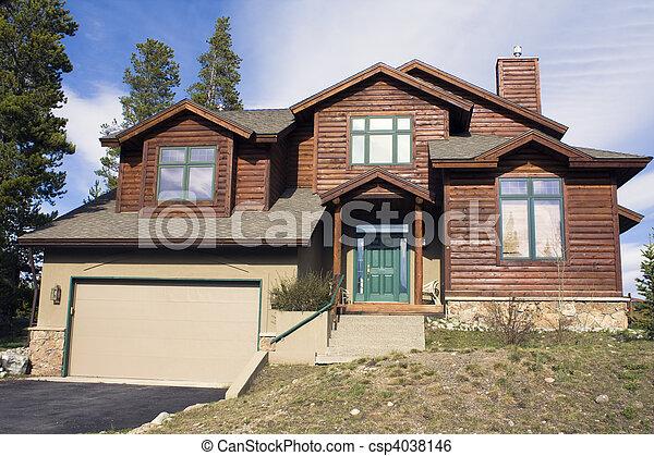 hegy, épület - csp4038146
