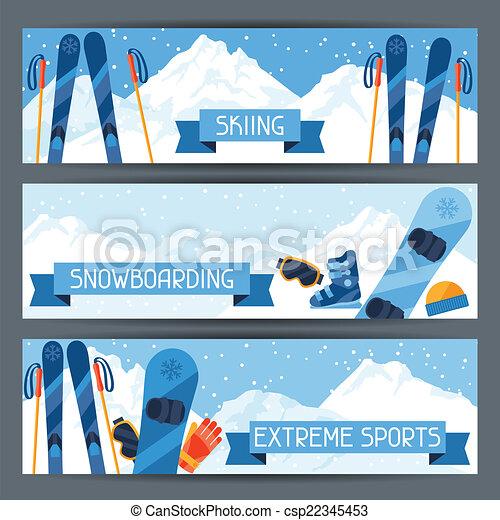 hegy, tél, parkosít., sport, szalagcímek, extrém - csp22345453