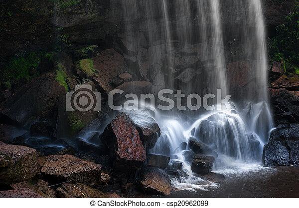 hegy, vízesés, hintáztatni, víz, kitakarít, folyó - csp20962099