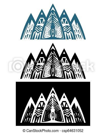 hegyek, elvont, állhatatos - csp64631052