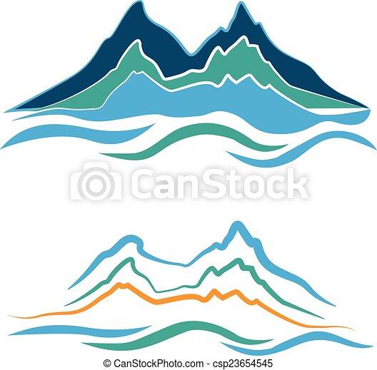 hegyek, jel - csp23654545