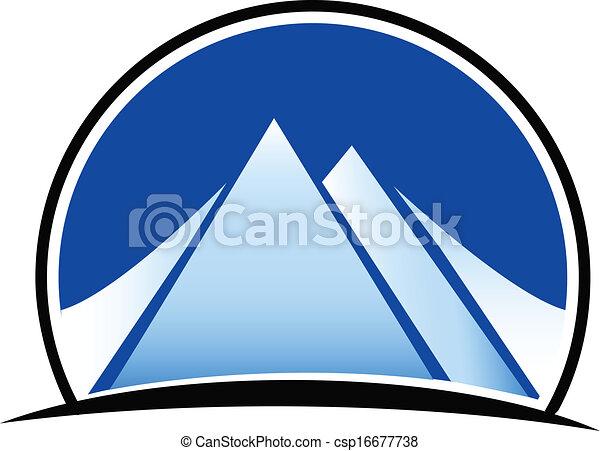 hegyek, vektor, jel - csp16677738