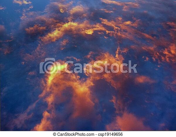 heiß, himmelsgewölbe, bewölkt  - csp19149656