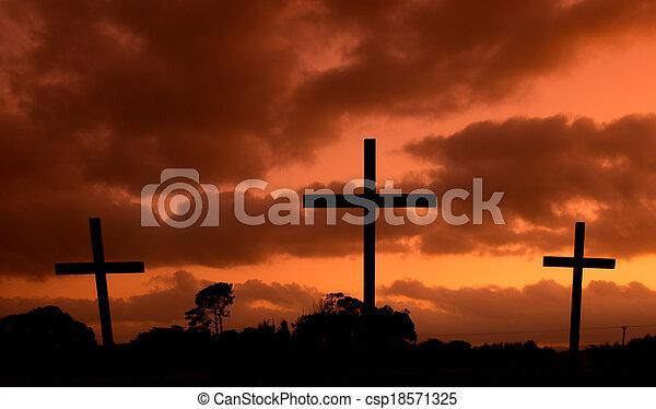 Heiße Himmelskreuze - csp18571325