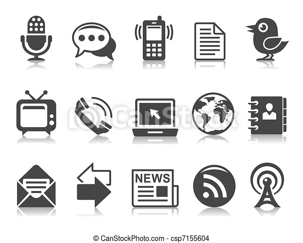 Kommunikations-Ikonen - csp7155604