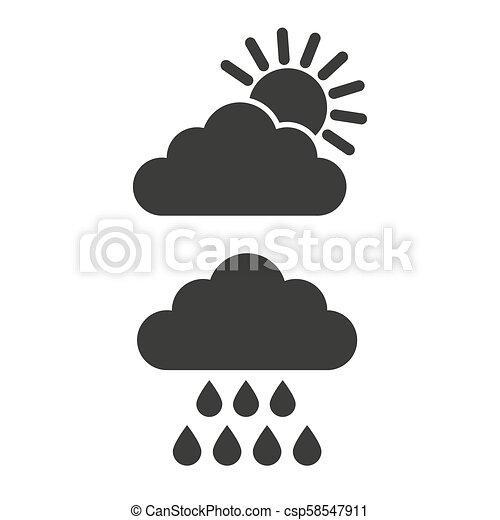 heiligenbilder, sonne, regen, hintergrund., weiße wolke - csp58547911