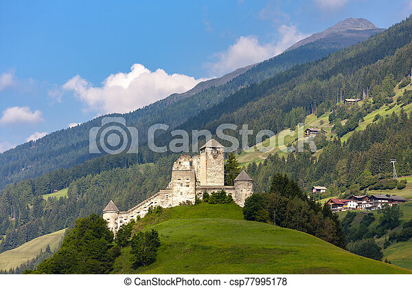 Heinfels Castle in Tyrol, Austria - csp77995178