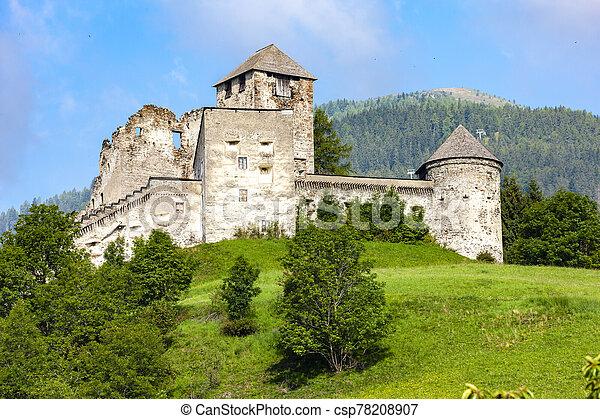 Heinfels Castle in Tyrol, Austria - csp78208907