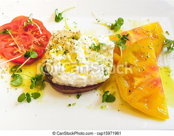 Heirloom tomato appetizer - csp15971961