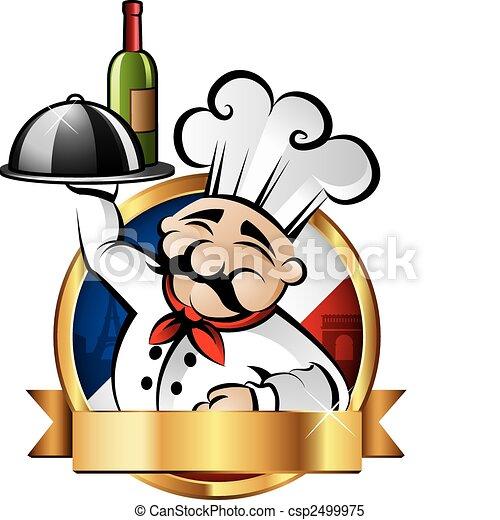 heiter, küchenchef, abbildung - csp2499975