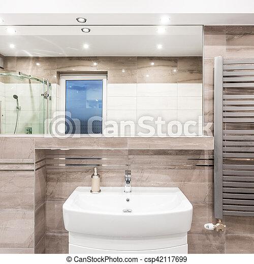 heizung badezimmer beige badezimmer heizk rper waschbecken dusche beige spiegel stilvoll. Black Bedroom Furniture Sets. Home Design Ideas