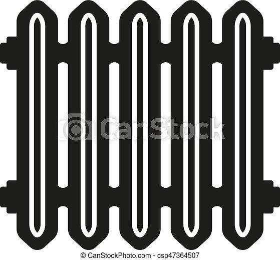 Heizung, heizkörper, wohnung, -, symbol., hitze, vektor,... Vektor ...