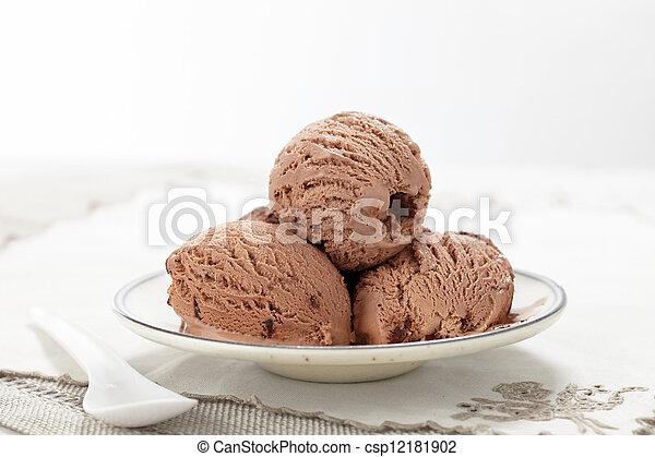 Helado de chocolate - csp12181902